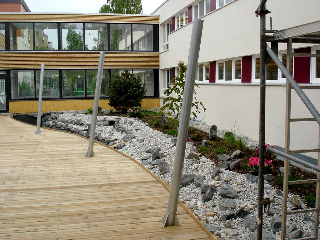 Gartengestaltung innenhof in leipzig 1 teichbau garten for Gartengestaltung leipzig