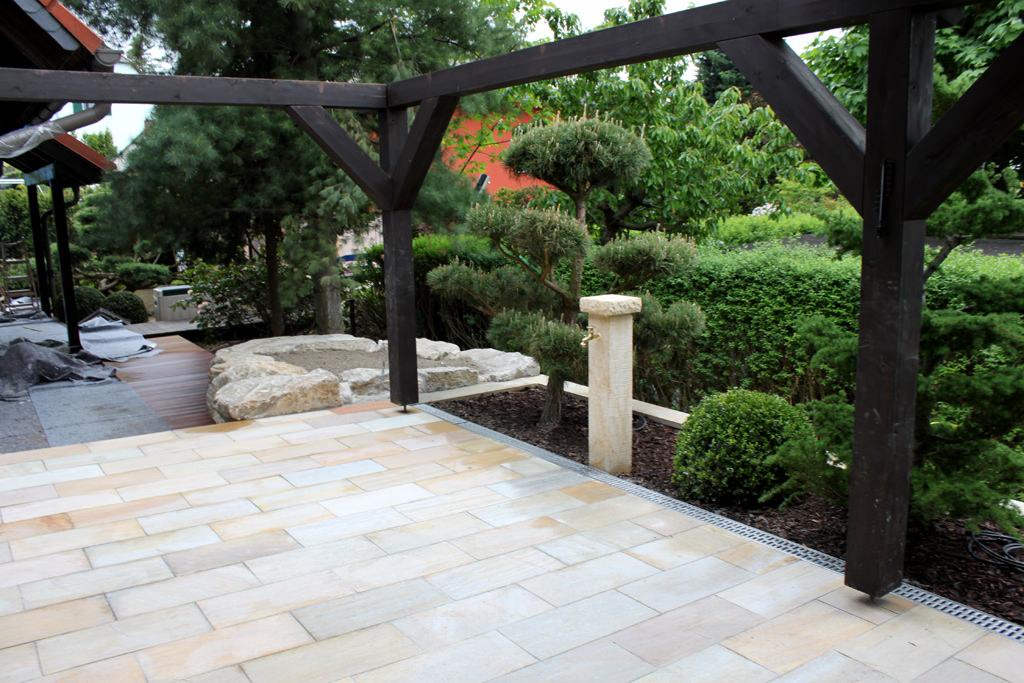 Gartengestaltung im grossraum mei en terrasse 1 teichbau for Gartengestaltung leipzig